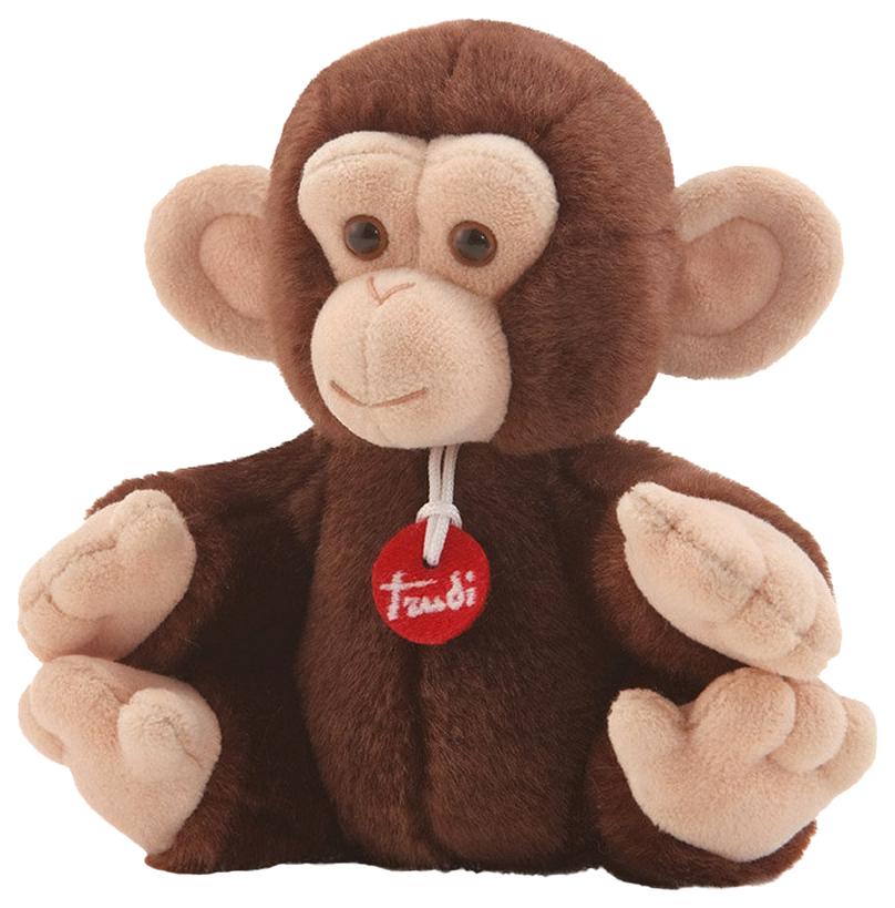 Купить Мягкая игрушка Trudi Обезьянка делюкс 15 см 51280, Мягкие игрушки животные