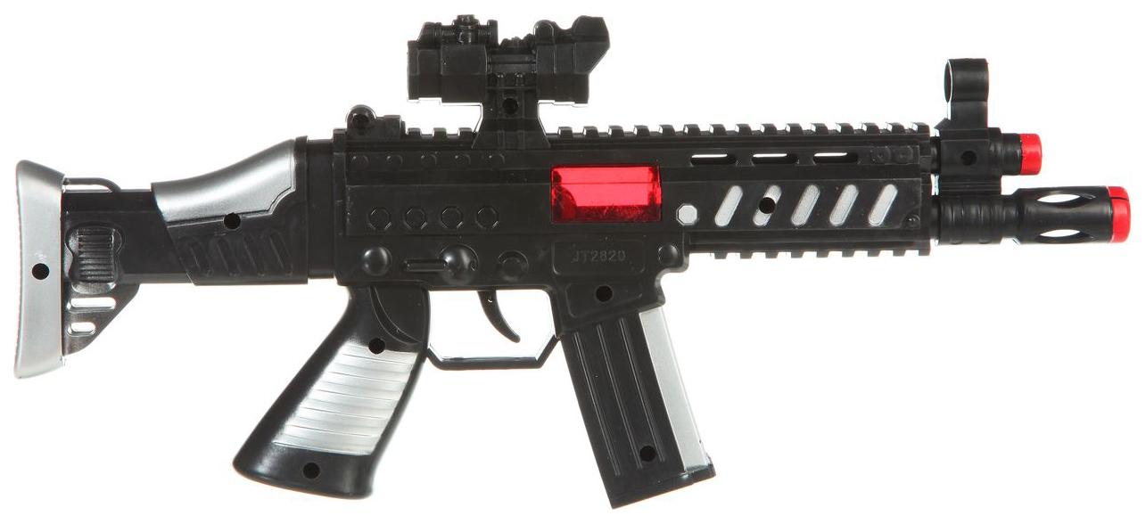 Купить Огнестрельное игрушечное оружие Shenzhen Toys Автомат-трещотка искрит звук, Стрелковое игрушечное оружие