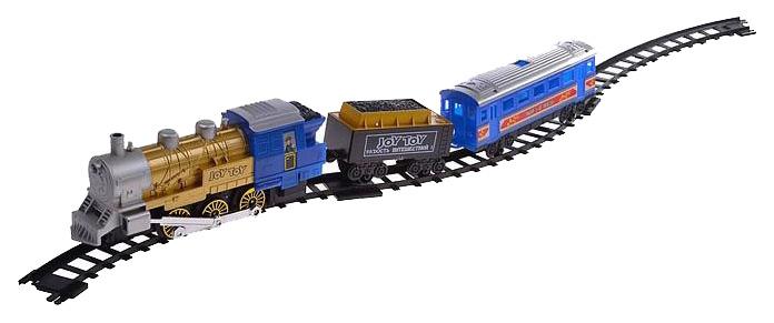 Купить Набор игровой JOY TOY Мой первый поезд - Железная дорога (свет, звук, дым), 22 детали, Детские железные дороги