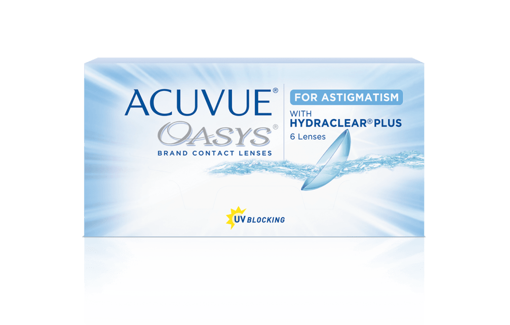 Контактные линзы Acuvue Oasys for Astigmatism with Hydraclear Plus 6 линз -1,25/-1,25/90