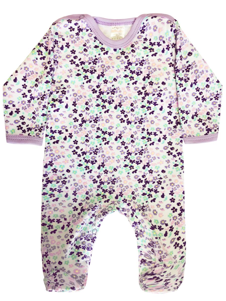Купить Комбинезон КотМарКот Цветочная феерия р.62, Слипы и комбинезоны для новорожденных