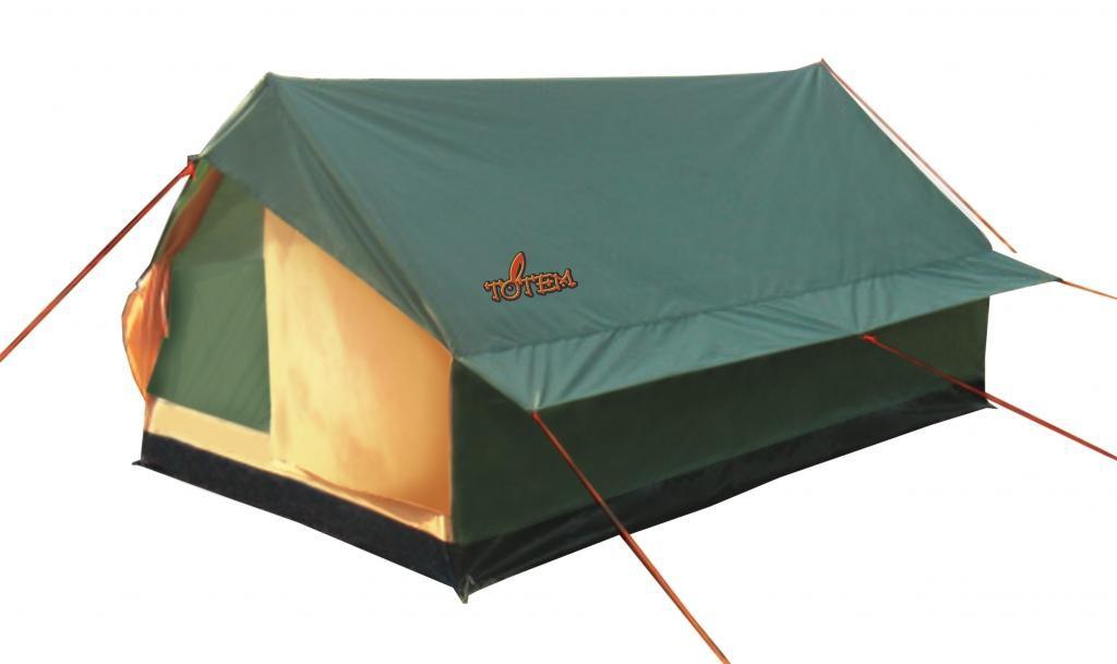 Палатка Totem Bluebird двухместная зеленая/желтая