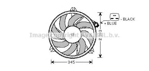 Вентилятор охлаждения двигателя Peugeot 206 00 Ava PE7525