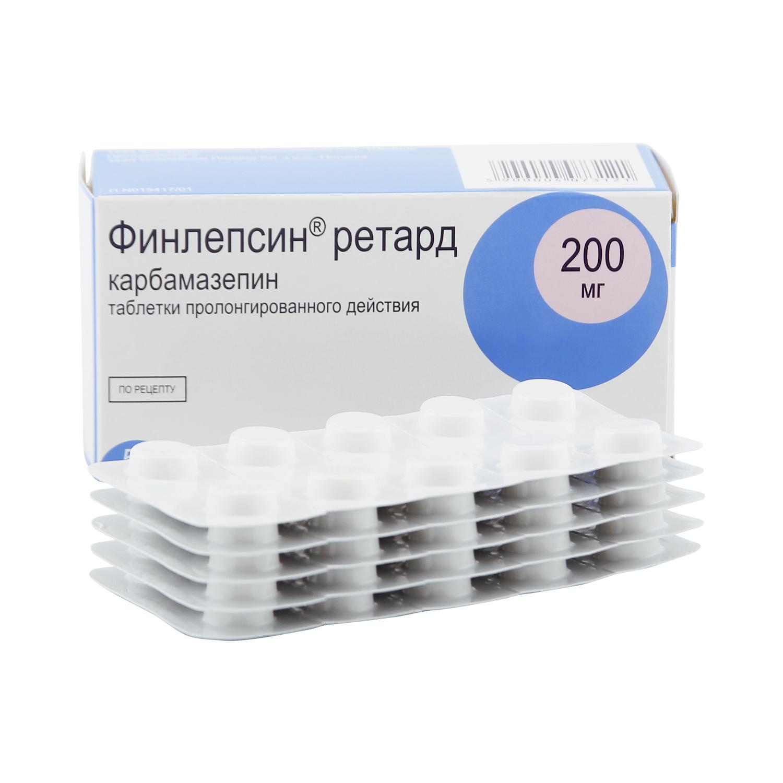 Финлепсин ретард таблетки 200 мг 50 шт.
