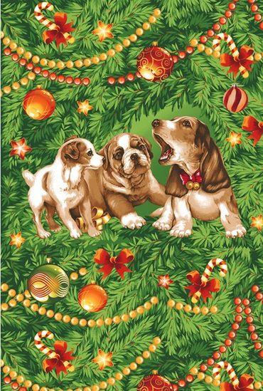 Набор новогодний полотенец вафельных 706
