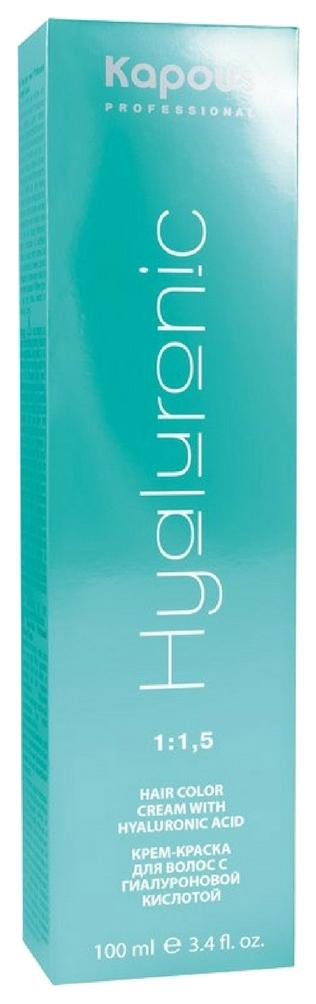 Краска для волос Kapous Professional Hyaluronic Acid 4.18 Коричневый лакричный 100 мл