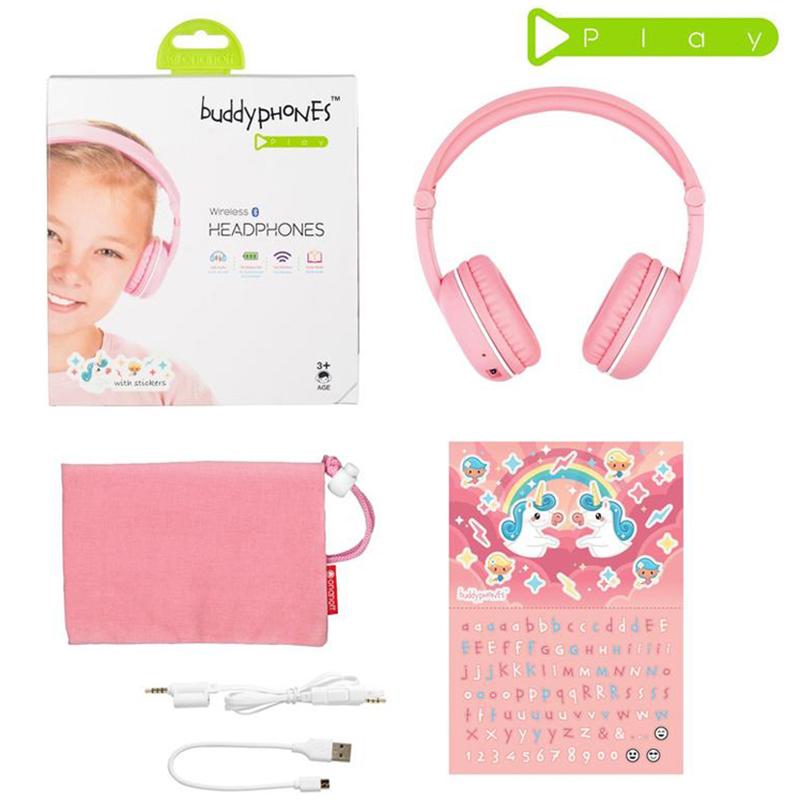Наушники беспроводные детские BuddyPhones Play SAKURA BT-BP-Play-SAKURA Play Sakura Pink