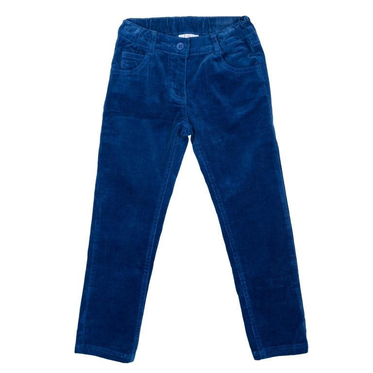Купить Брюки текстильные для девочек(110), 362172 синий EAN 4690244735354, Play Today, Детские брюки и шорты