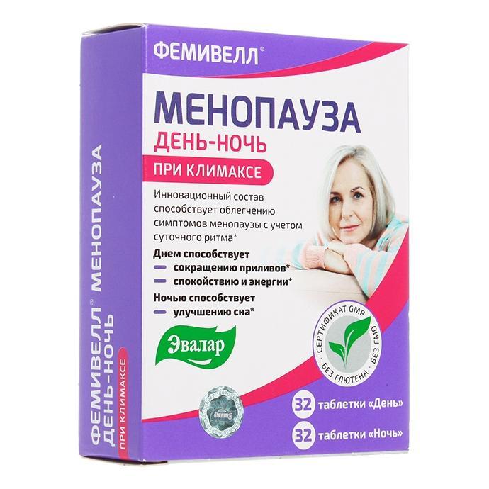 Фемивелл Эвалар менопауза таблетки 64 шт.