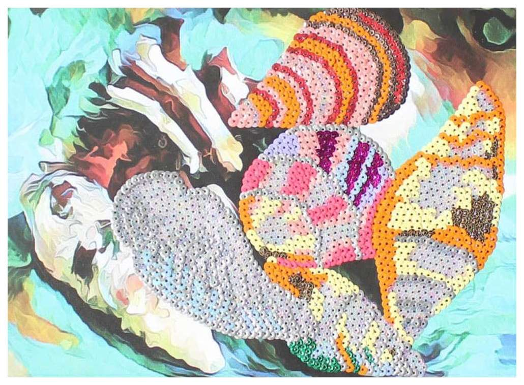 Поделка Color Kit Картина из пайеток Ракушки CME011