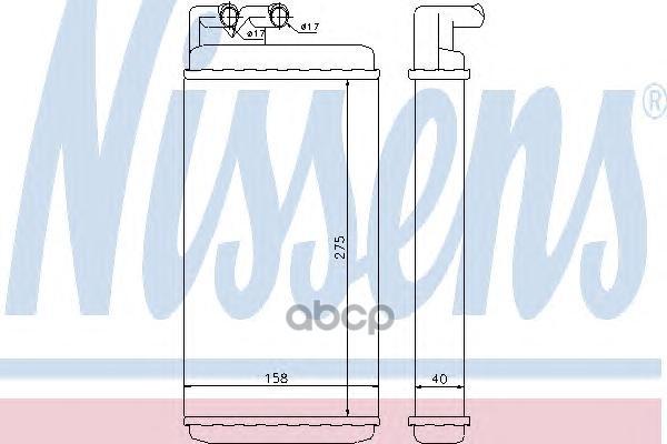 Радиатор отопителя Nissens 70220 фото
