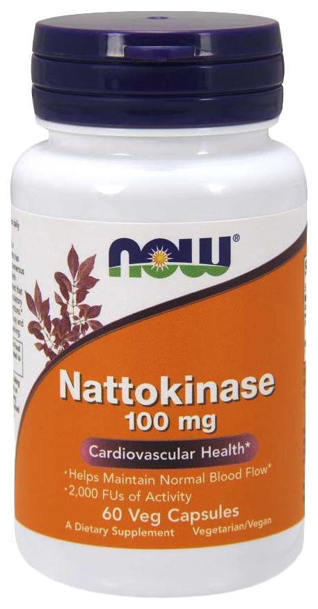 Купить Для пищеварения NOW Nattokinase 100 мг 60 капсул