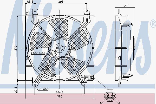 Вентилятор охлаждения двигателя NISSENS 85353