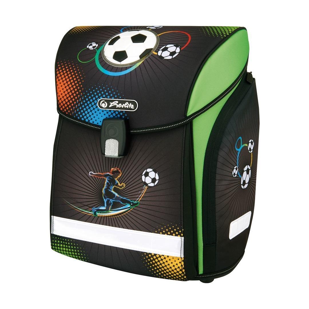 Купить Ранец Herlitz New Midi Soccer черный, Школьные рюкзаки и ранцы
