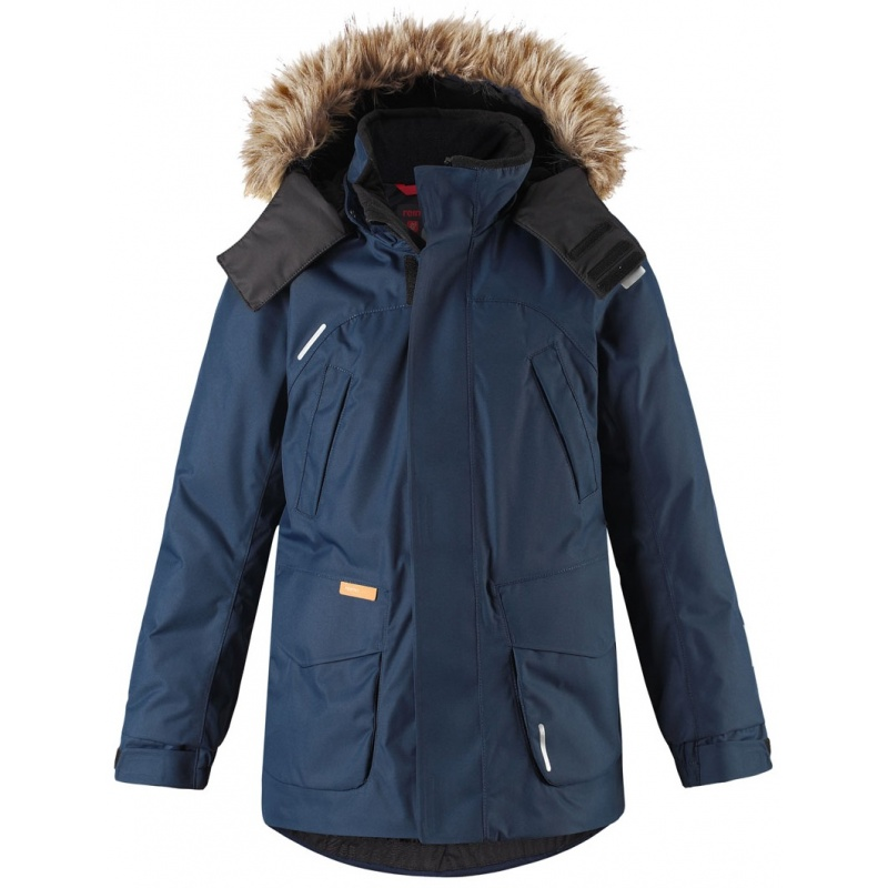 Купить Куртка Serkku REIMA темно-синий р.128, Детские зимние куртки