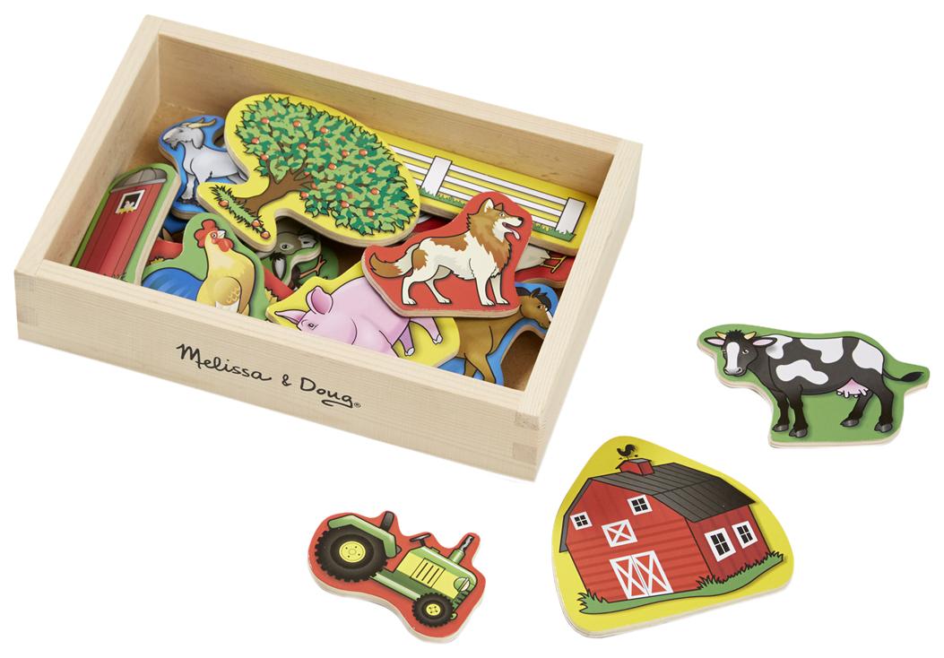 Купить Деревянная игрушка Melissa&Doug Магнитные игры Ферма, Melissa & Doug,