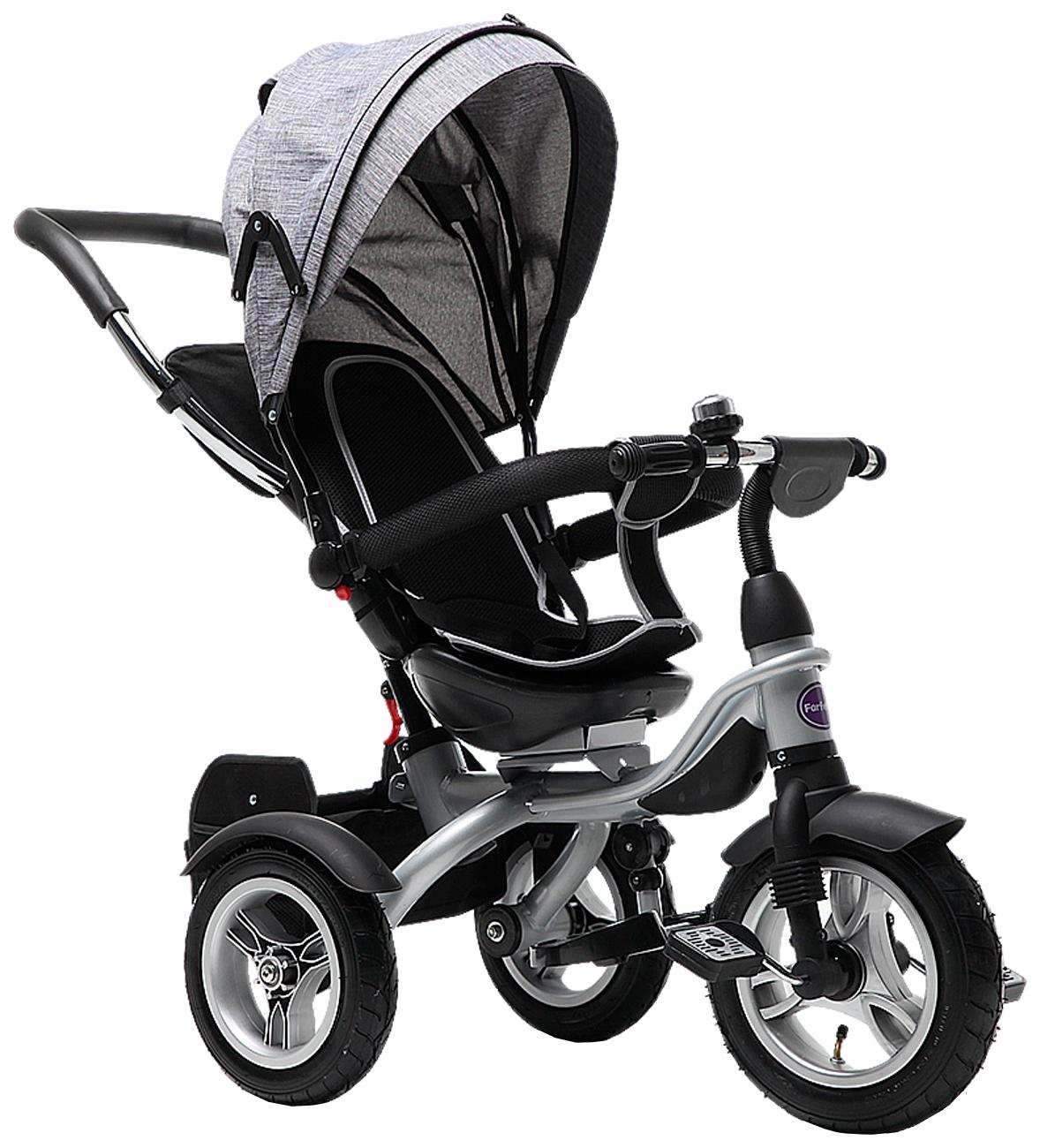 Купить Велосипед трехколесный Farfello TSTX6688-4 лен серый, Детские велосипеды-коляски
