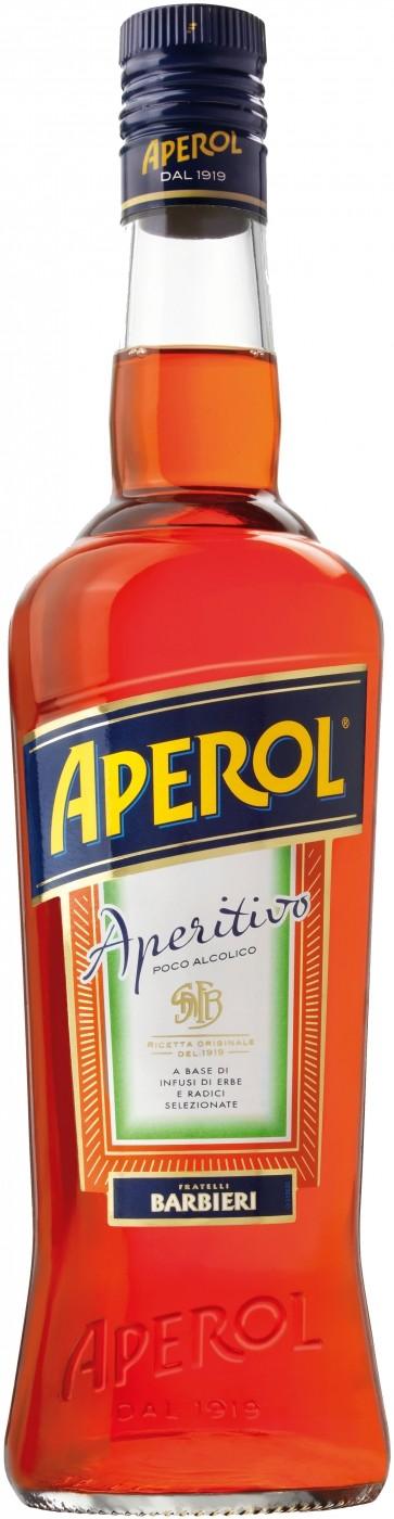 Аперитив Aperol 0.7 л, ликер красный; аперитив