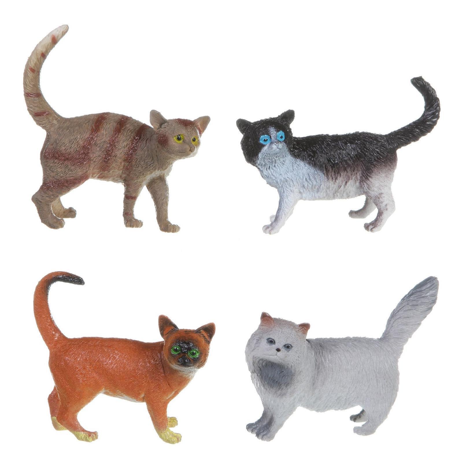 Купить Набор животных Bondibon ребятам о зверятах, кошки, 4 вида, 5, Фигурки животных