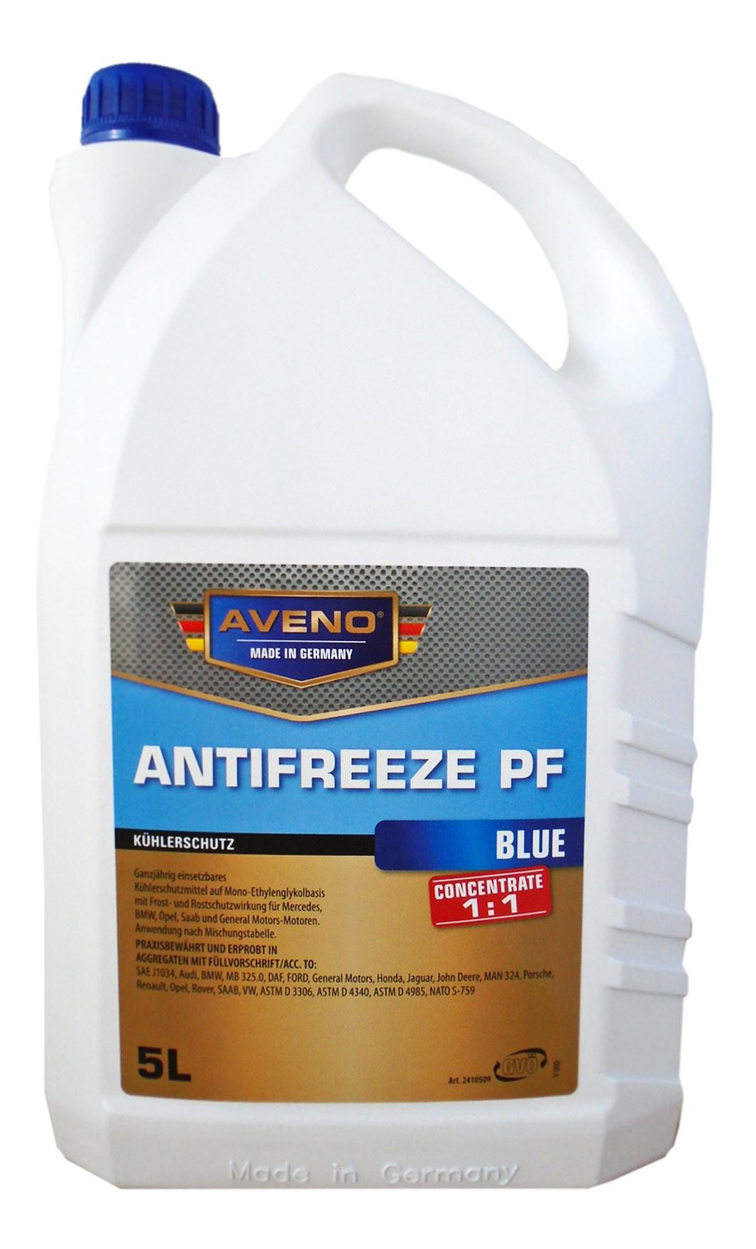 Антифриз AVENO ANTIFREEZE PF G11 синий концентрат