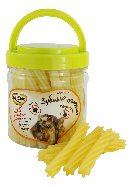 Лакомство для собак Мнямс, крученые зубные палочки с фруктами, 340г