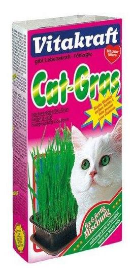 Лакомство для кошек Vitakraft смесь для проращивания свежей травы, 120г фото