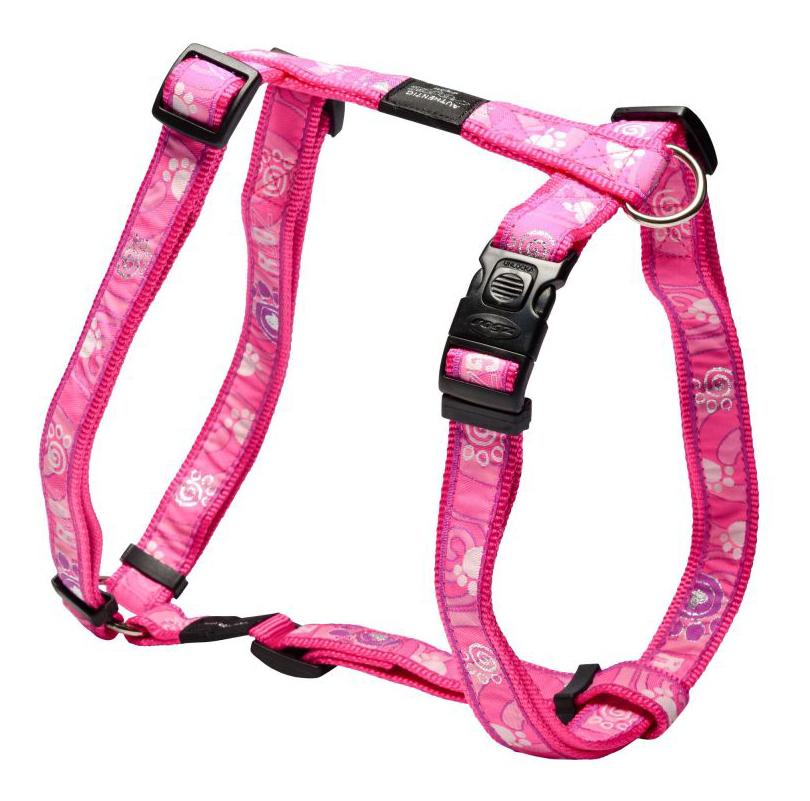Шлейка для собак Rogz Fancy Dress XL-25мм (Розовый SJ02CA)