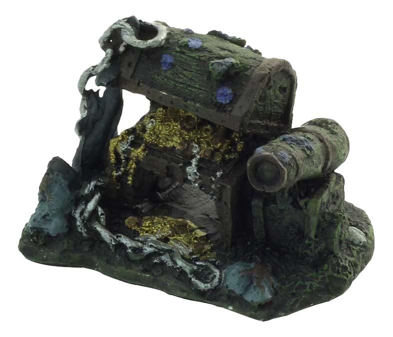 Грот для аквариума Laguna Затонувшие сокровища 021KB, полиэфирная смола, 10,5х7,5х7 см фото