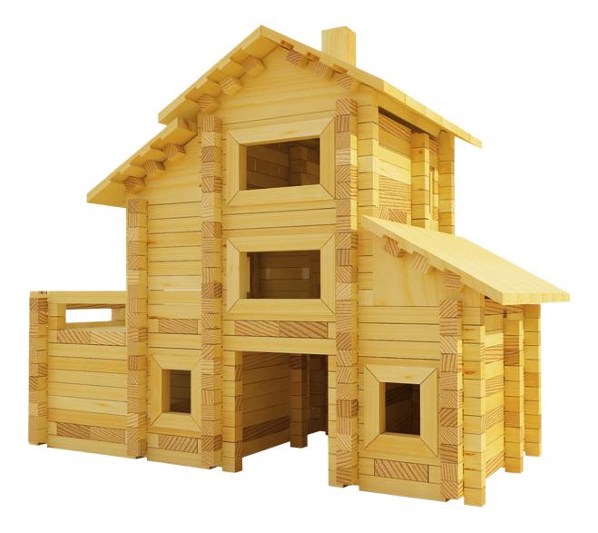 Конструктор деревянный Лесовичок Разборный домик №7 фото