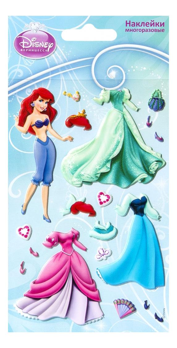 Наклейка декоративная для детской комнаты Липляндия Дисней Ариель с нарядами