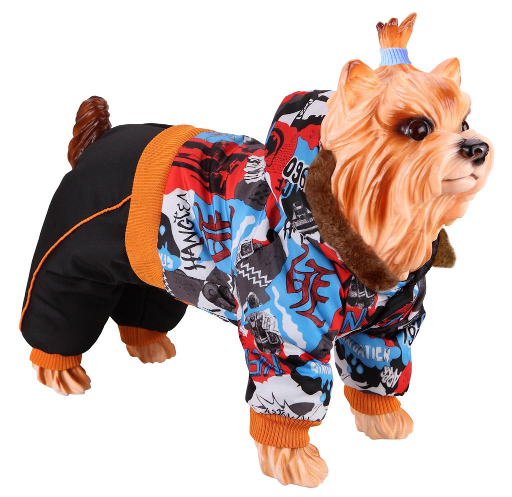 Комбинезон для собак DEZZIE размер S мужской, черный, оранжевый, красный, голубой