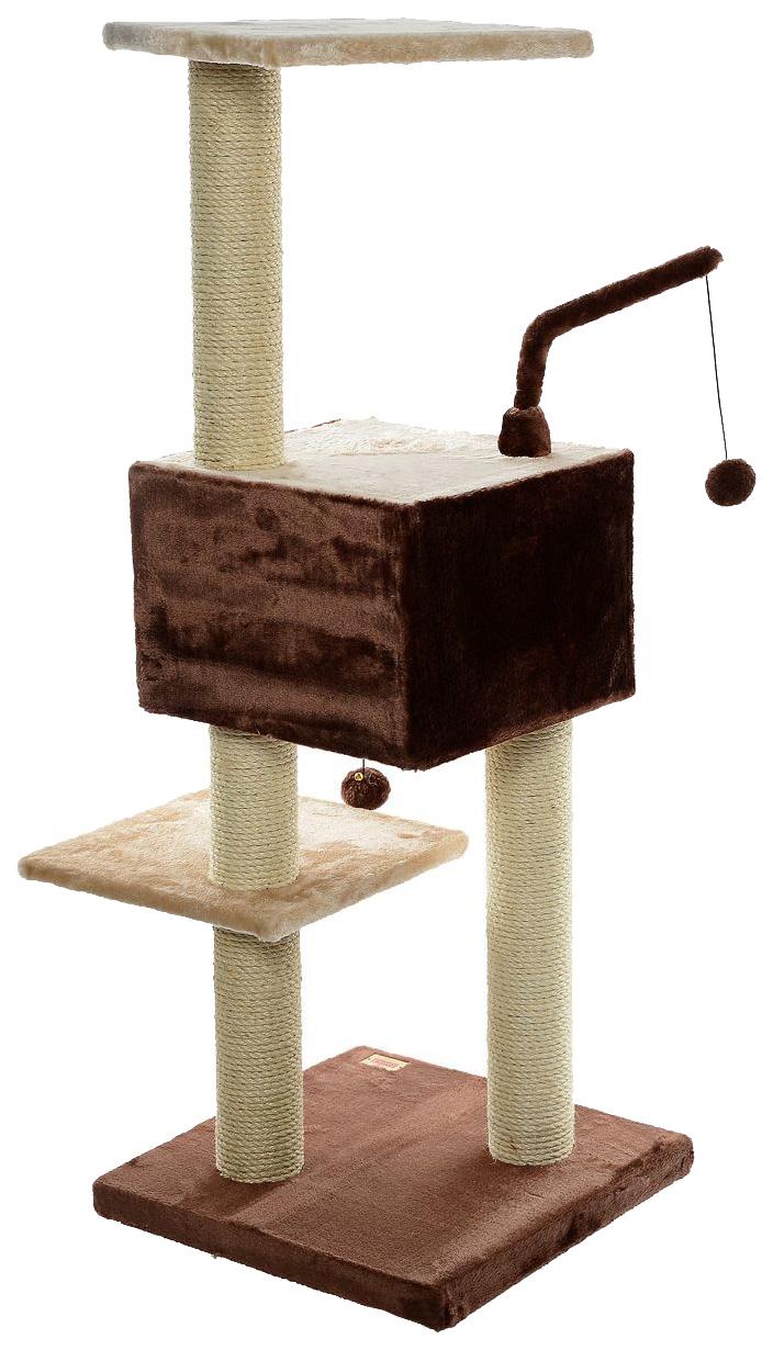Комплекс для кошек Fauna International, бежевый, коричневый,