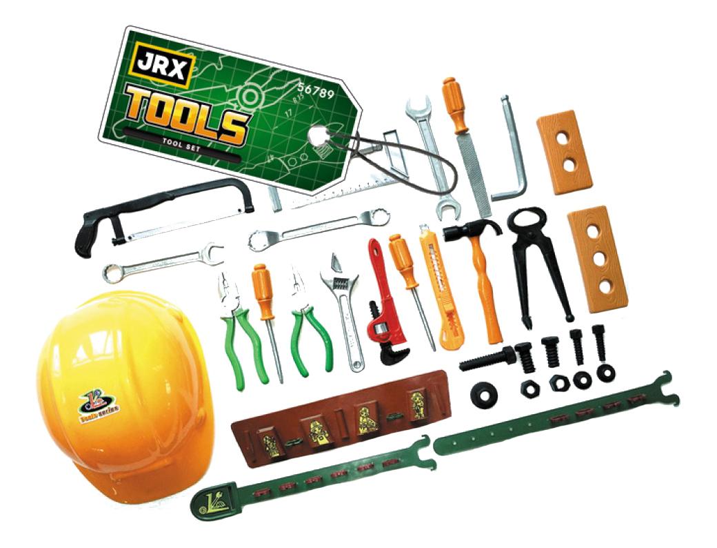 Купить С каской профессионал, Набор игрушечных инструментов JRX с каской профессионал, Детские мастерские