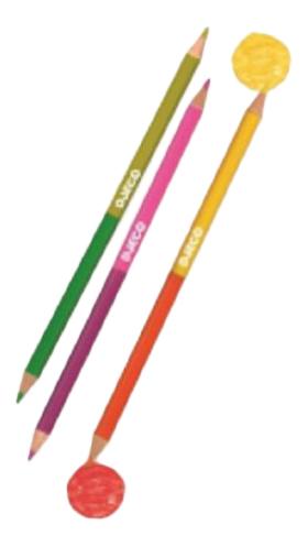 Купить Карандаши цветные Djeco 12 двухсторонних карандашей