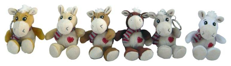 Купить Брелок мягкая лошадка с сердечком 13 см Snowmen Е94350, Аксессуары для ранцев и рюкзаков