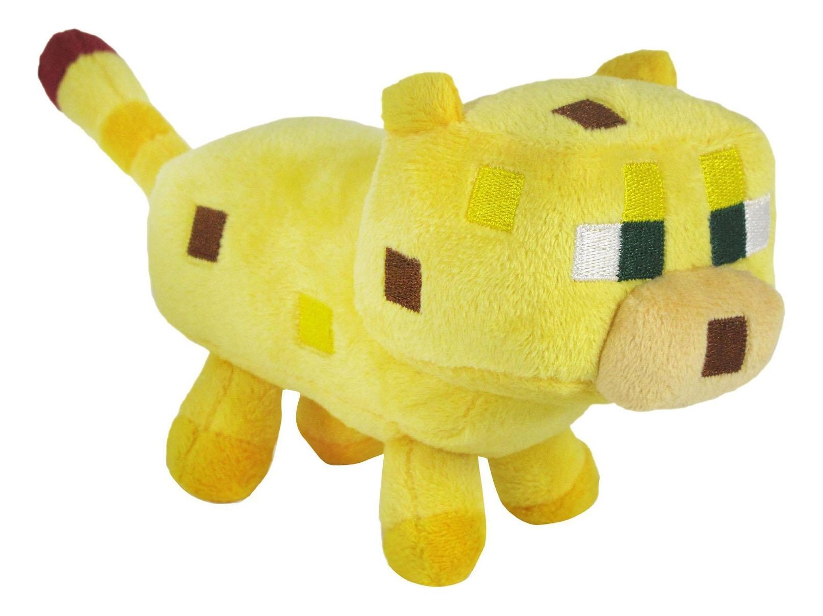Купить Мягкая игрушка Jazwares из плюша Детеныш Оцелота Minecraft 18 см, Мягкие игрушки персонажи