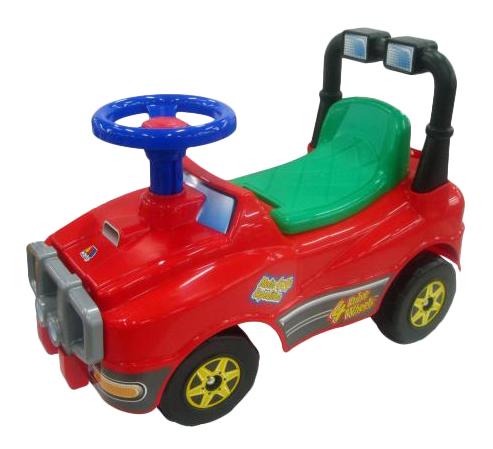 Купить Джип № 2 красный, Каталка-машинка Molto Джип №2 пластик от 1 года на колесах красный 62888, Машинки каталки