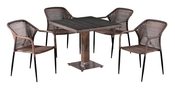 Комплект мебели Afina Garden T503SG/Y35G-W1289 Pale (4+1), T503SG/Y35G-W1289