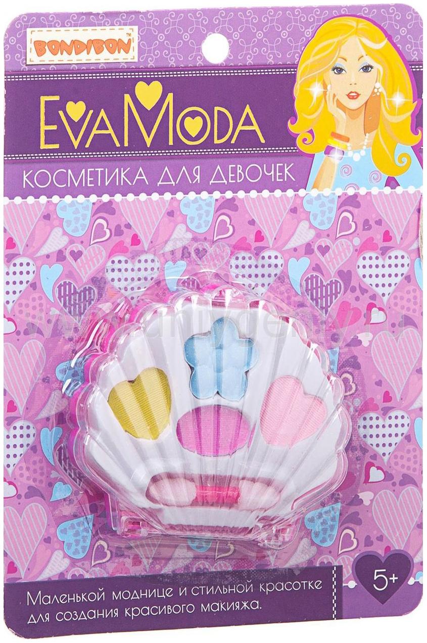 Купить Набор детской косметики Bondibon Eva Moda ВВ1764 Ракушка с тенями для век,