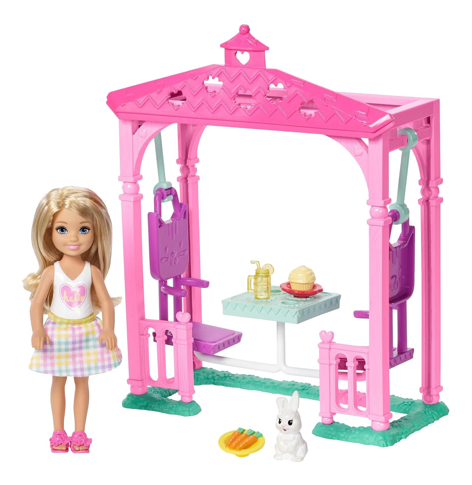 Купить Игровой набор FDB34 Barbie Челси и набор мебели, Куклы Barbie