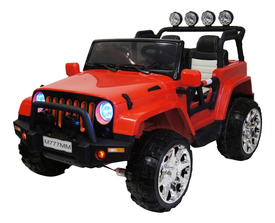 Электромобиль Jeep красный RIVERTOYS