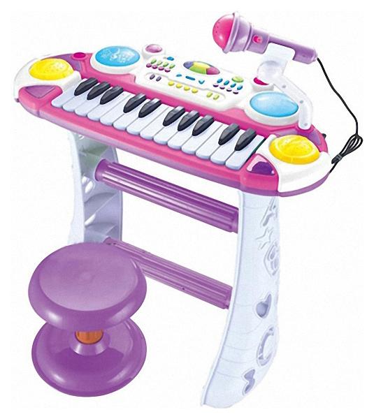 Купить Электронное пианино Play Smart музыкант с микрофоном Б45519, Play Smart Электронное пианино музыкант с микрофоном Play Smart Б45519, PLAYSMART, Детские музыкальные инструменты