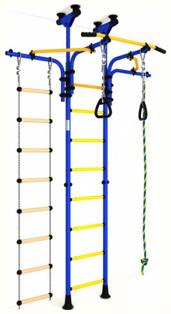 Купить Детский спортивный комплекс Карусель R5 (ДСКМ-2-8, 06, Т1, 410, 03-14) сине/жёлтый, Romana, Детские спортивные комплексы для дома