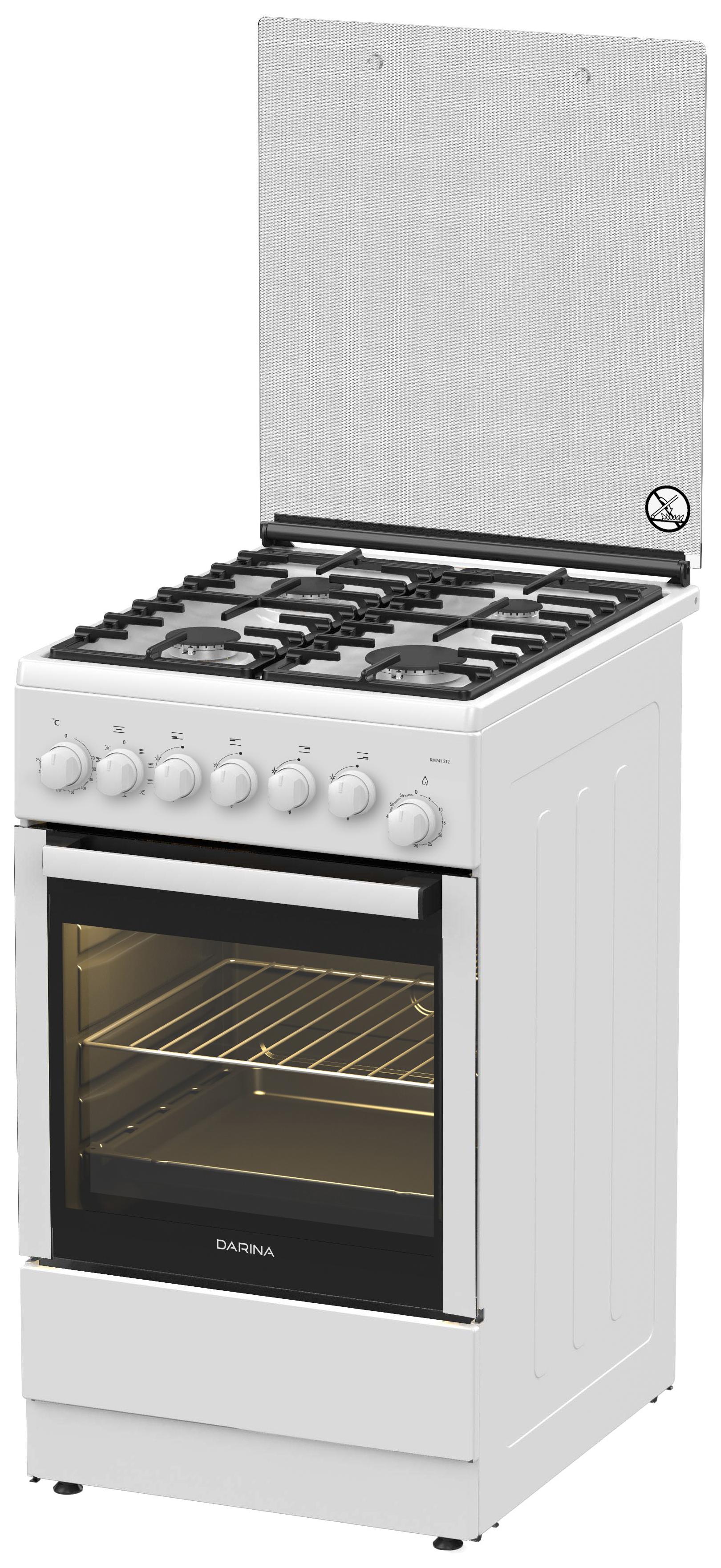 Комбинированная плита Darina 1F1 2312 W White