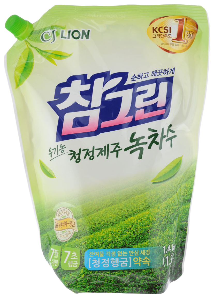 Средство для мытья посуды CJ Lion зеленый