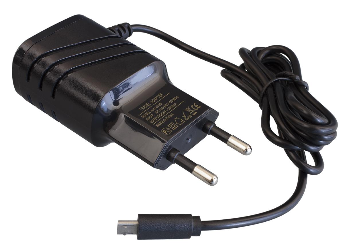 Сетевое зарядное устройство Navitoch microUSB 1A Black фото