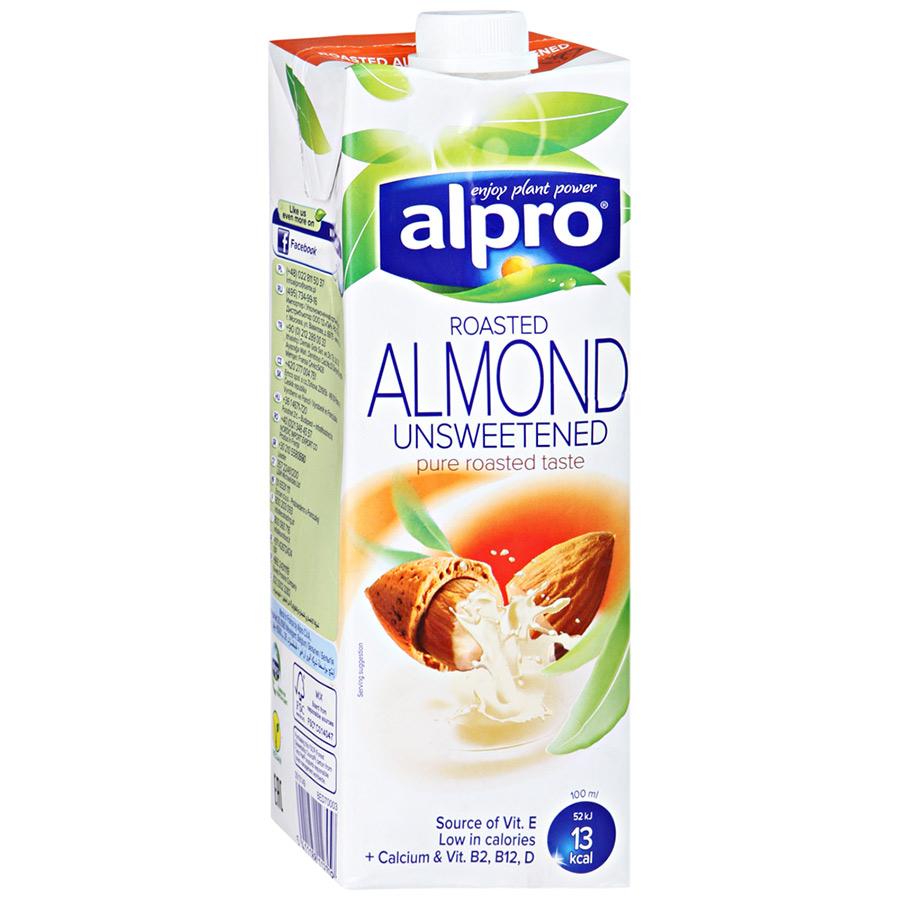 Напиток миндальный Alpro без сахара обогащенный кальцием и витаминами 1 л