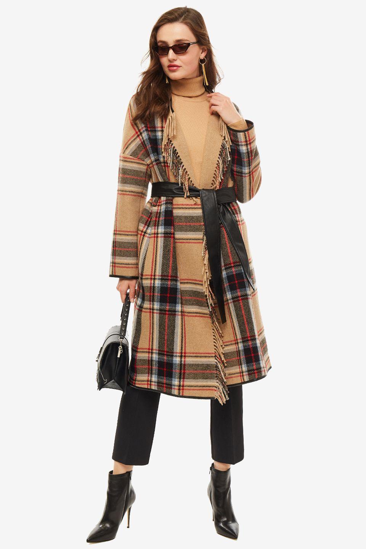 Пальто женское Pinko бежевое
