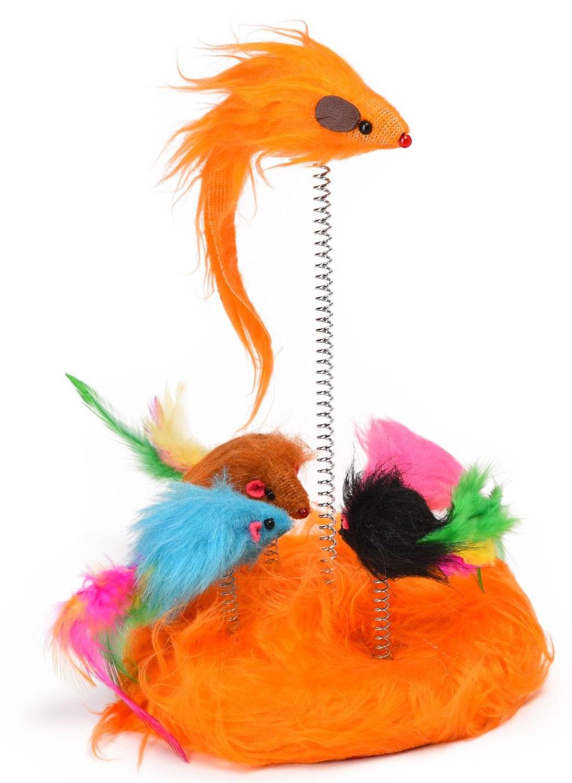 Игрушка для кошек Nobby Мышки на пружинке,