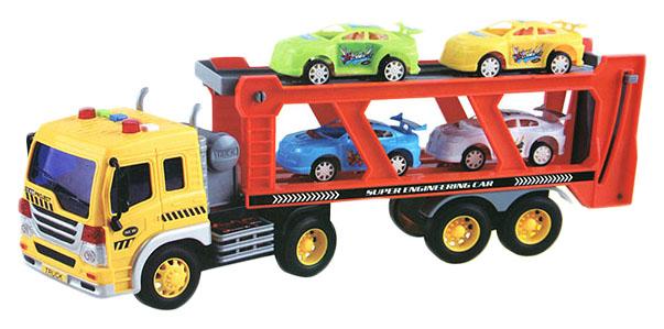 Купить Игровой набор Автовоз с 4 машинками (свет, звук), Shantou Gepai,